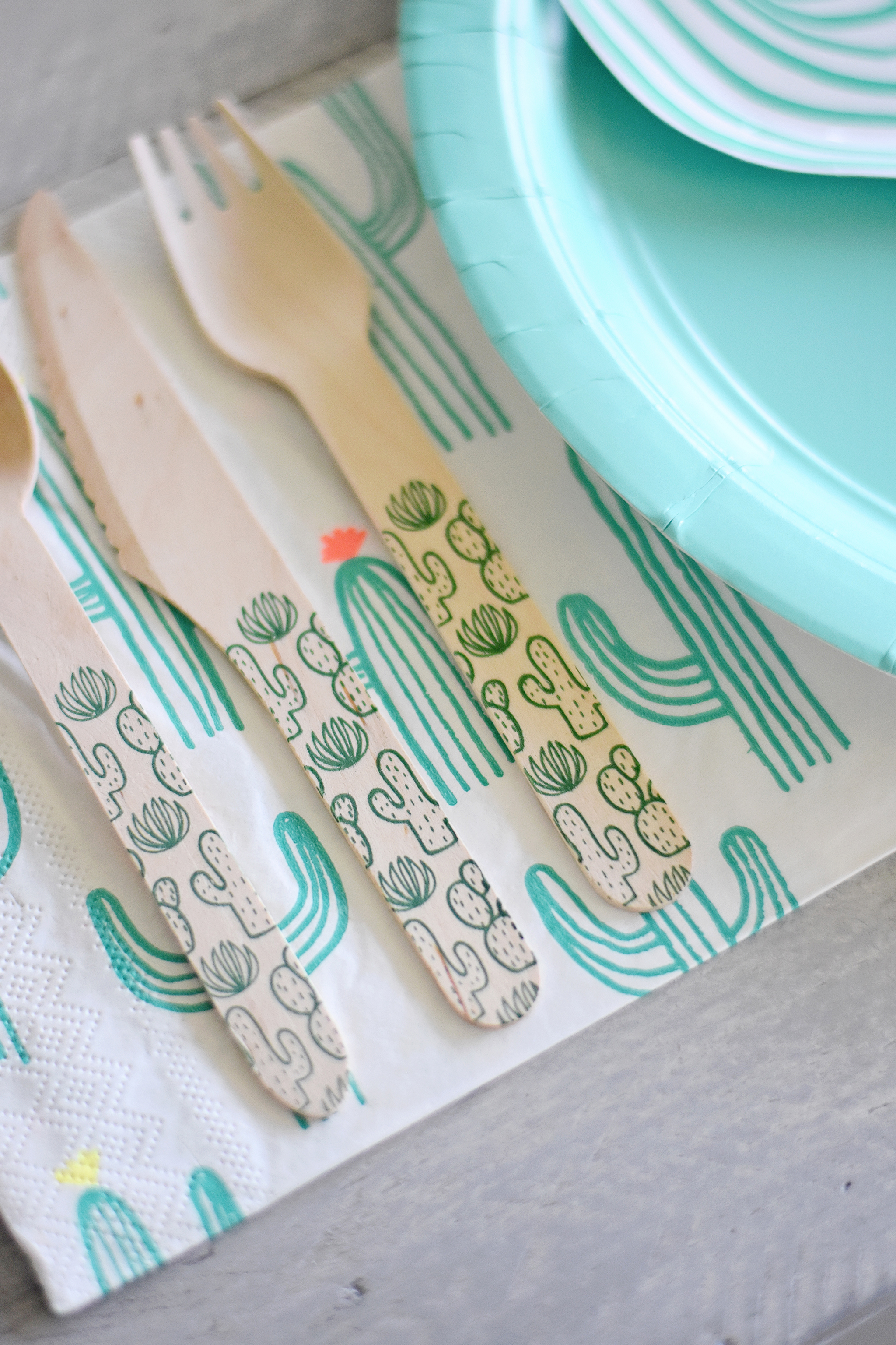Cacti Print Flatware from Sucre Shop!