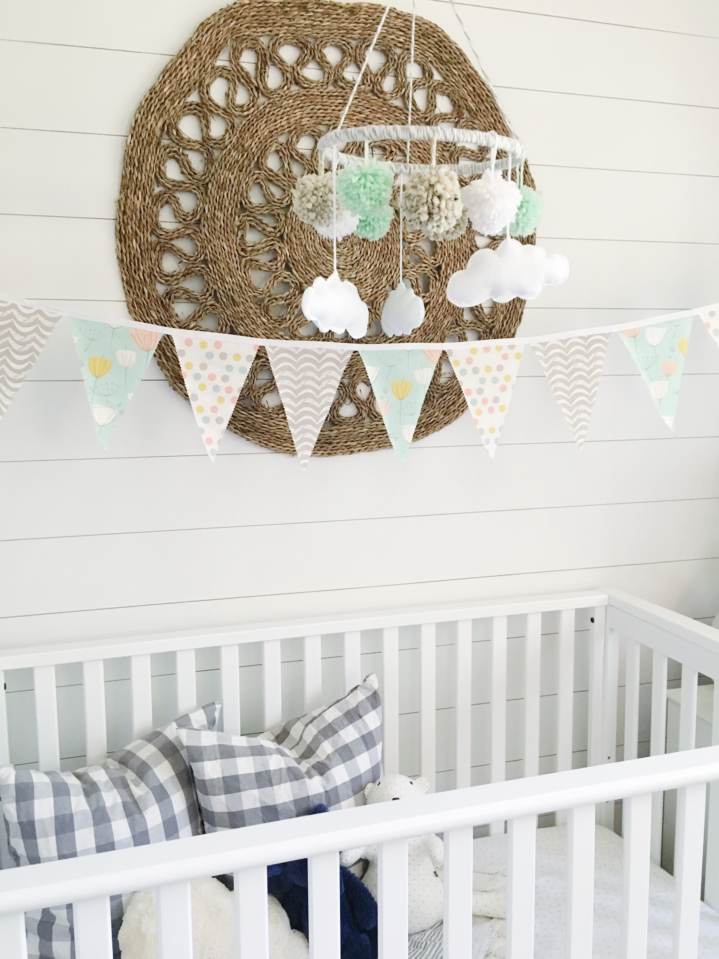 Whimsical Mint and Gray Nursery Gender Neutral Nursery with Mint Accents - Project Nursery