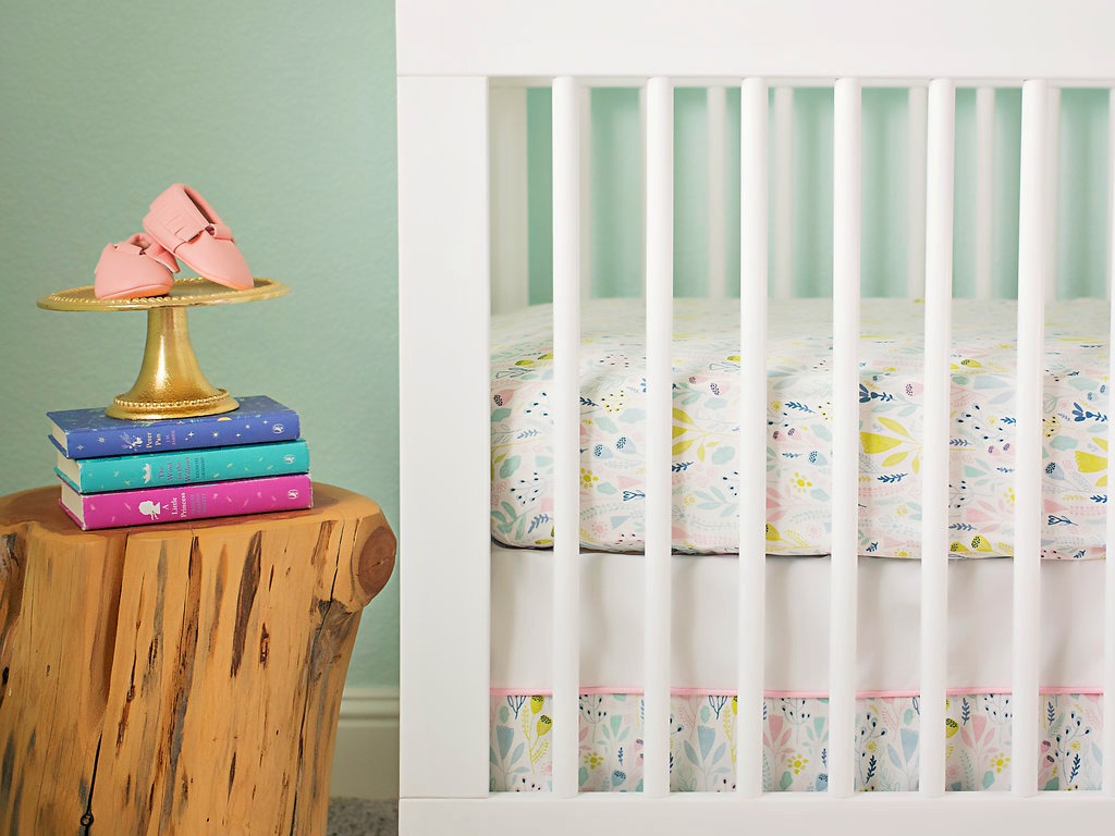 Project Nursery x Carousel Designs Pink Woodland Crib Set