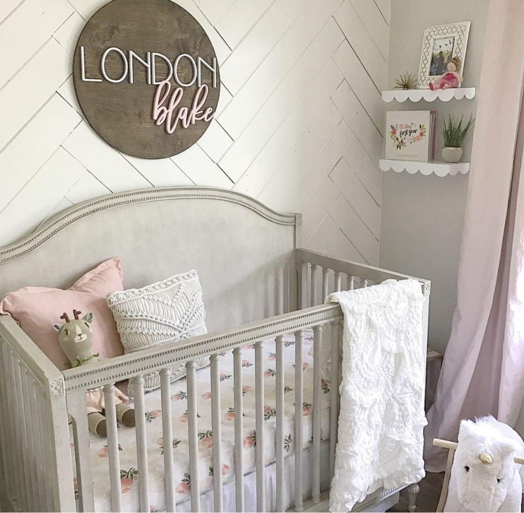 Sweet baby girl nursery project nursery Baby girl room ideas
