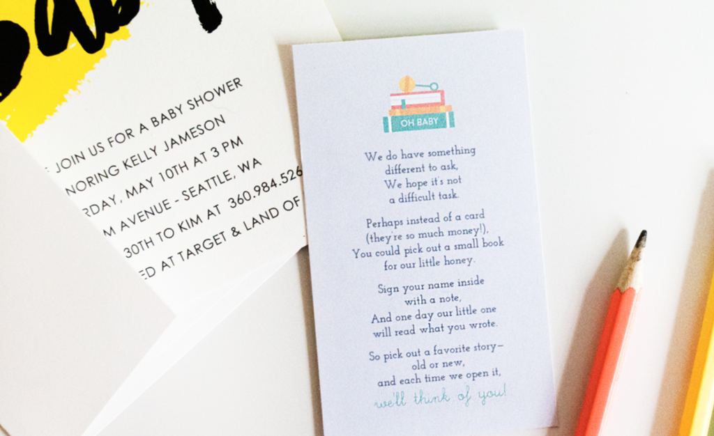 photo of Grow Baby's Library with Our Book Instead of a Card Free Printable