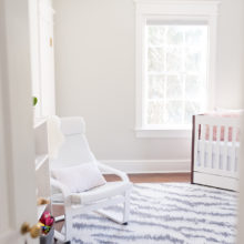 photo of Modern Nursery with a Pop of Pink