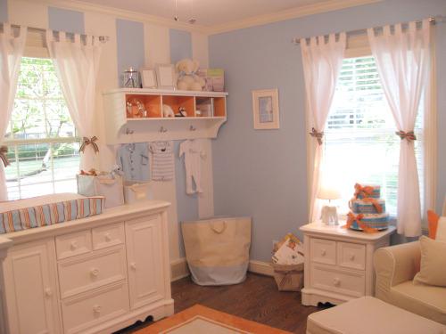 Everything Designish Baby Boy S Nursery: Real Rooms: Blue Sky & Tangerine Dreams