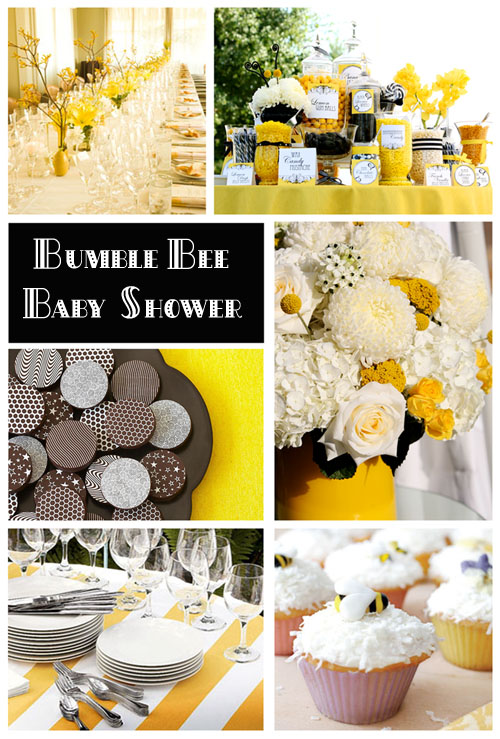 Bumble Bee Themes Baby Shower