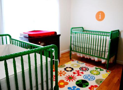 Budget Nursery For Twin Girls