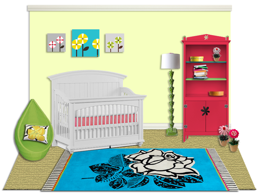 Little Crown Interiors Nursery Culture Spring rendering