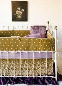 Bella Notte Linens Silk Velvet Crib Set