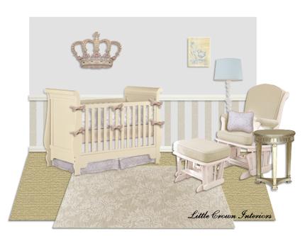 elegant baby boy room