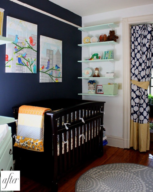 Navy And White Nursery Inspiration