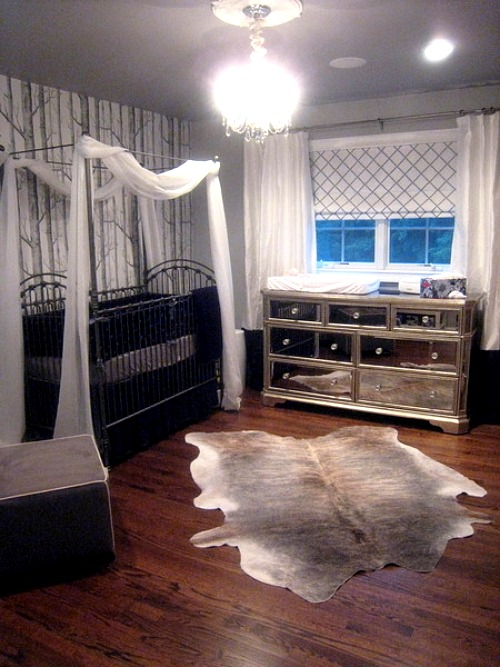 Animal Hide Rugs In The Nursery