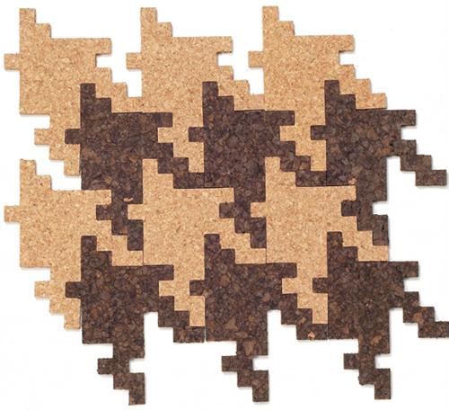houndstooth pattern cork board