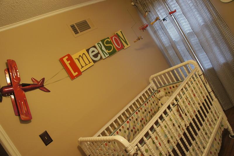 ABC Vintage Nursery Monogrammed Wall