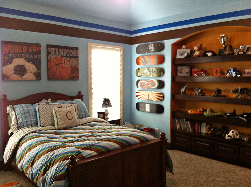 Vintage sports boys room project nursery for Room interior design for boys