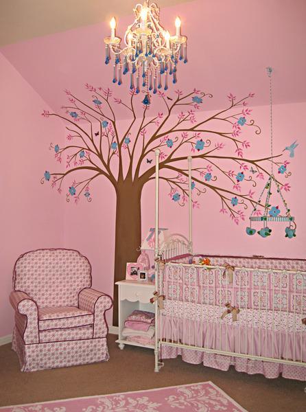 Mod Vintage Room Pink Nursery