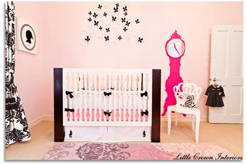 hot pink baby nursery