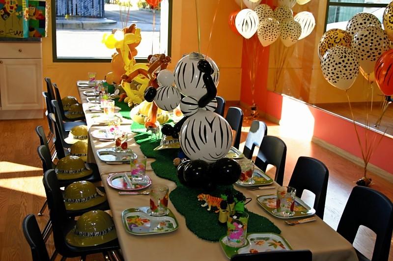 Kid Jungle Party Decor Diy