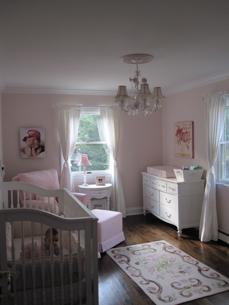 Avas Pink And White Shabby Chic Nursery Project Nursery