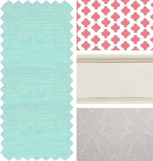 Serena and calming nursery color scheme