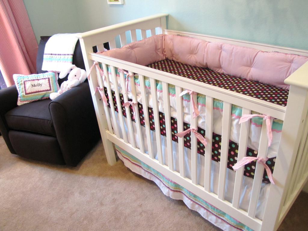 Molly S Coco Dot Nursery Project Nursery