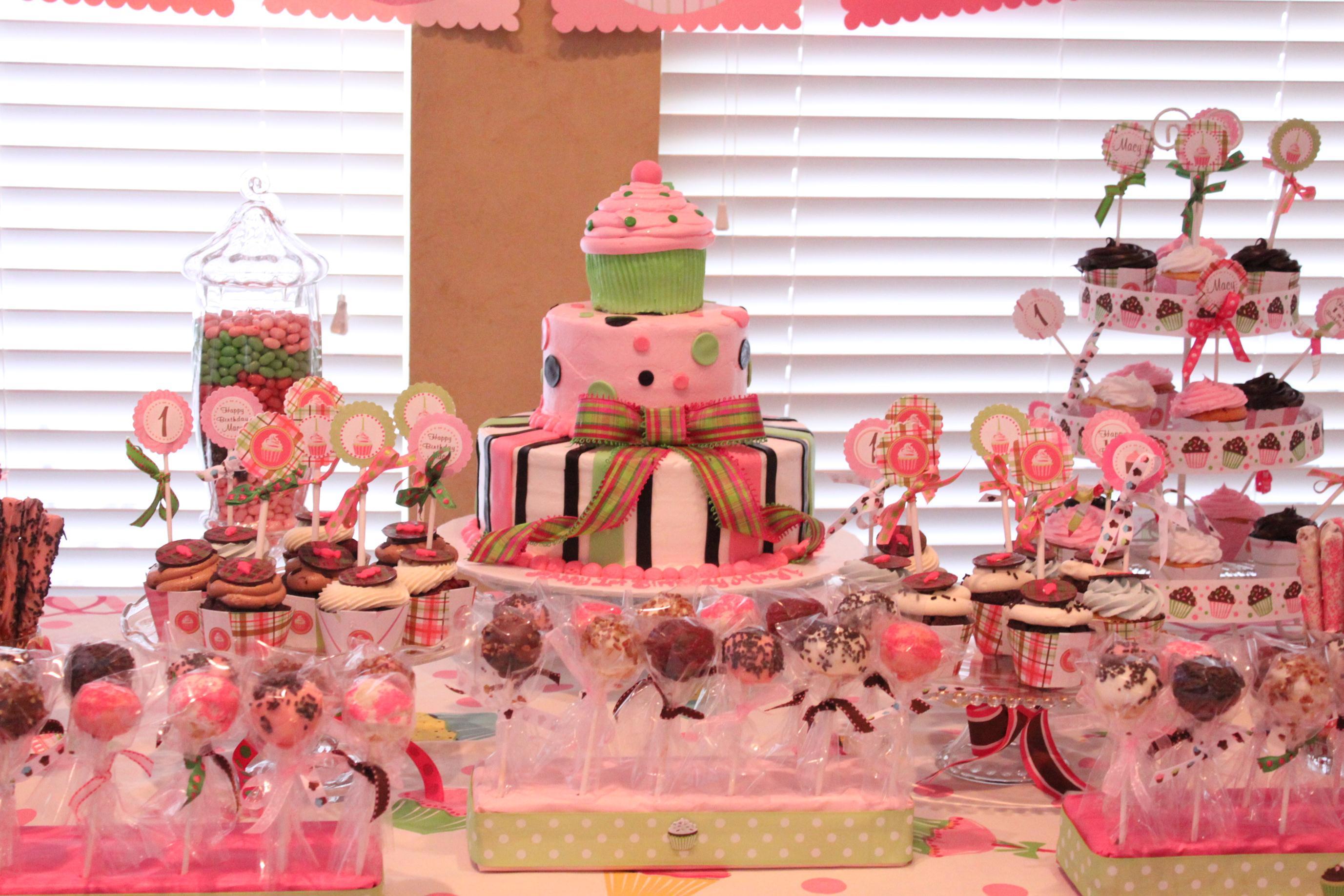 Cupcake 1st Brithday Project Nursery