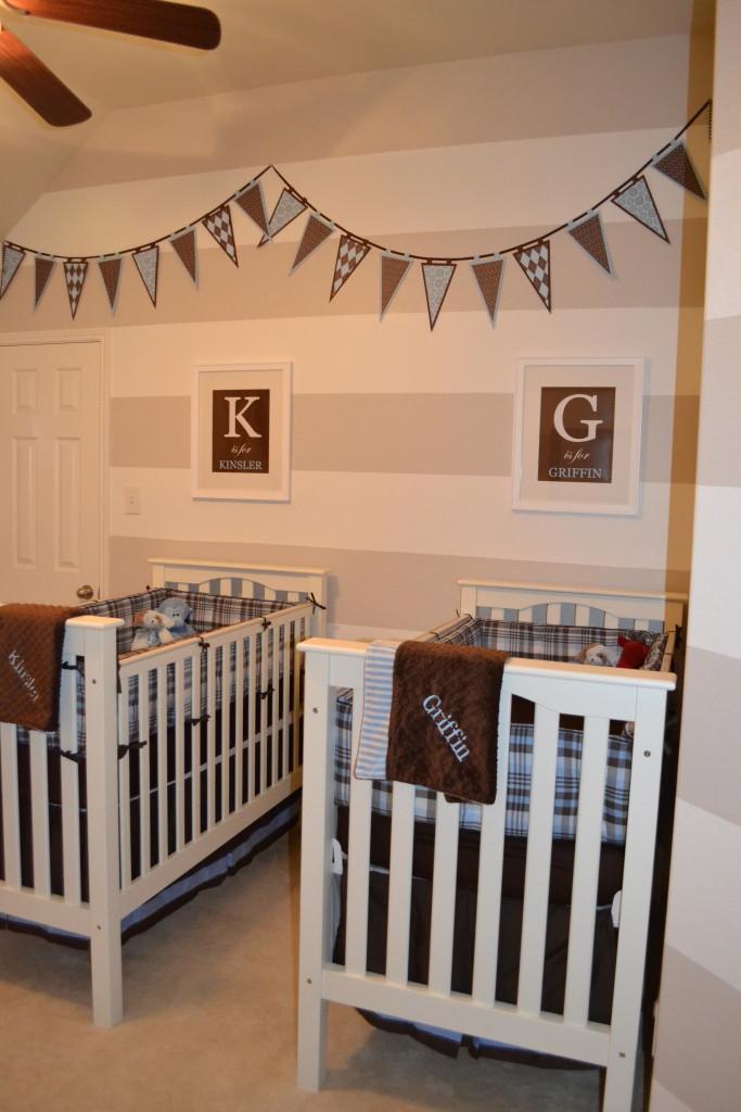 Twin Boy S Preppy Nursery Project Nursery