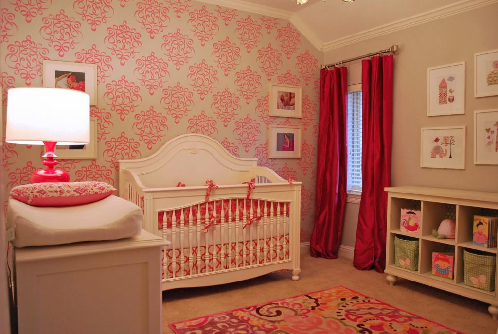 Elegant and bold pink nursery project nursery - Stylish elegant apartment decor appearing eye catching impression ...