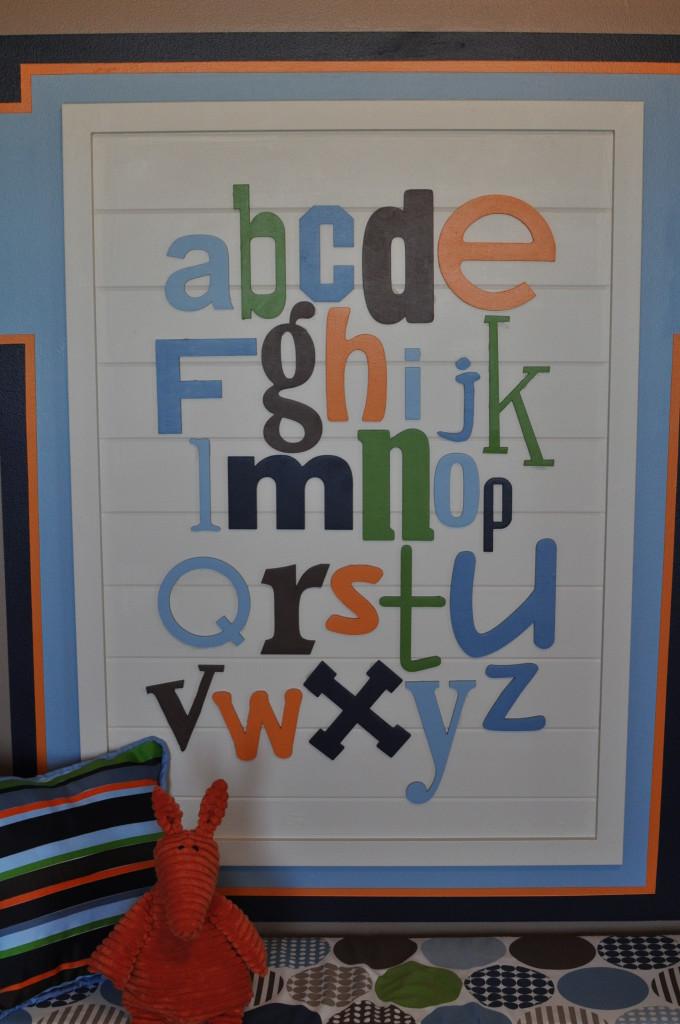 Vintage Truck Nursery Alphabet Art