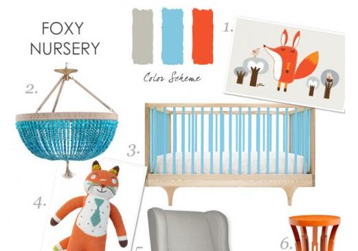 Fox Themed Nursery Design Board