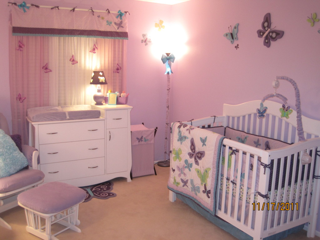 Beautiful butterflies nursery project nursery for Butterfly themed bedroom ideas