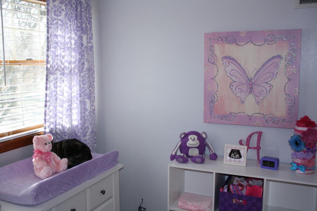 Purple And Gray Girly Nursery Project Nursery