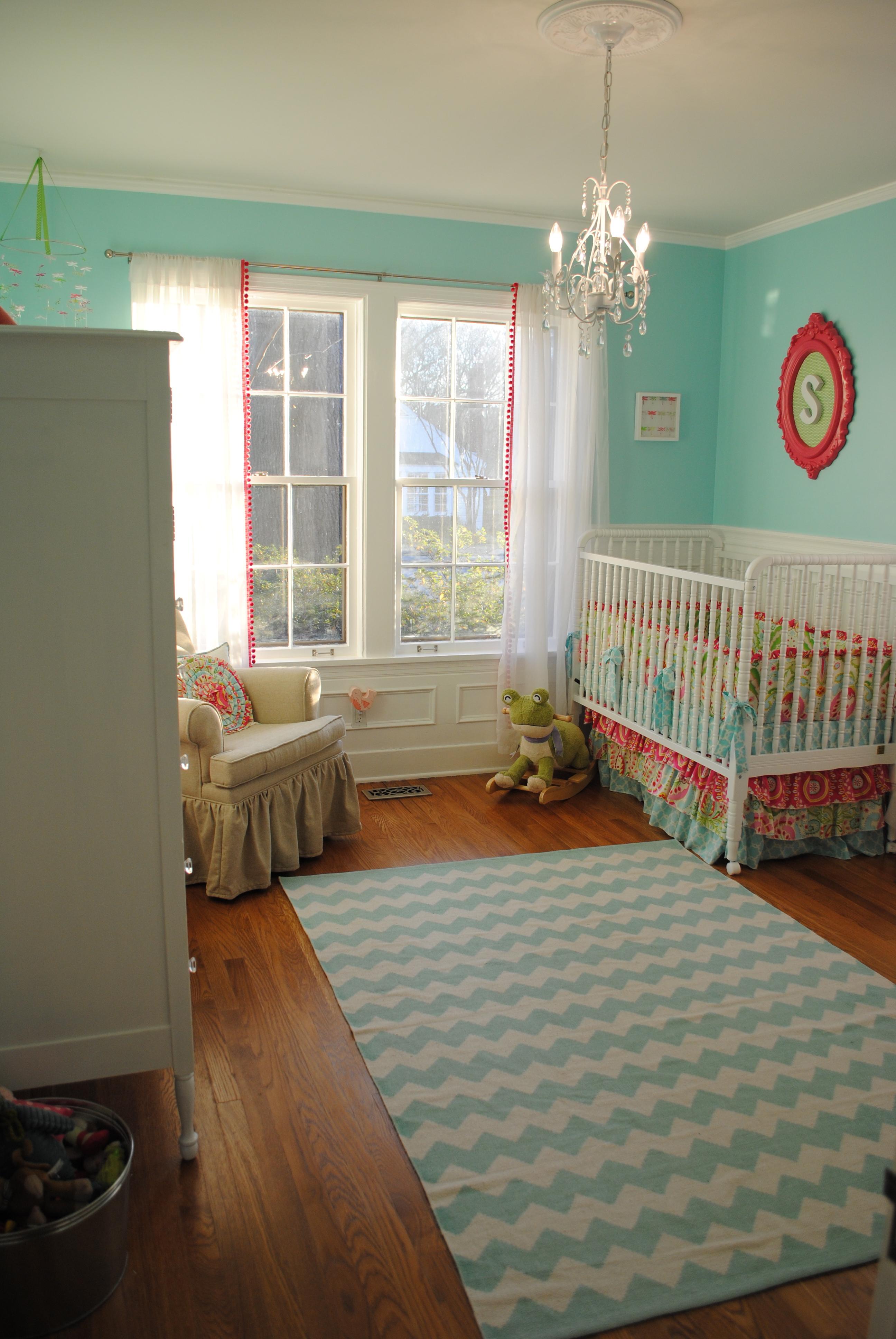 Aqua Pink And Green Whimsical Nursery Project Nursery