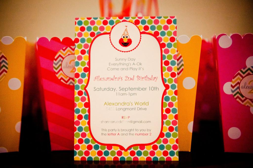 girly elmo birthday party - Elmo Birthday Party Invitations