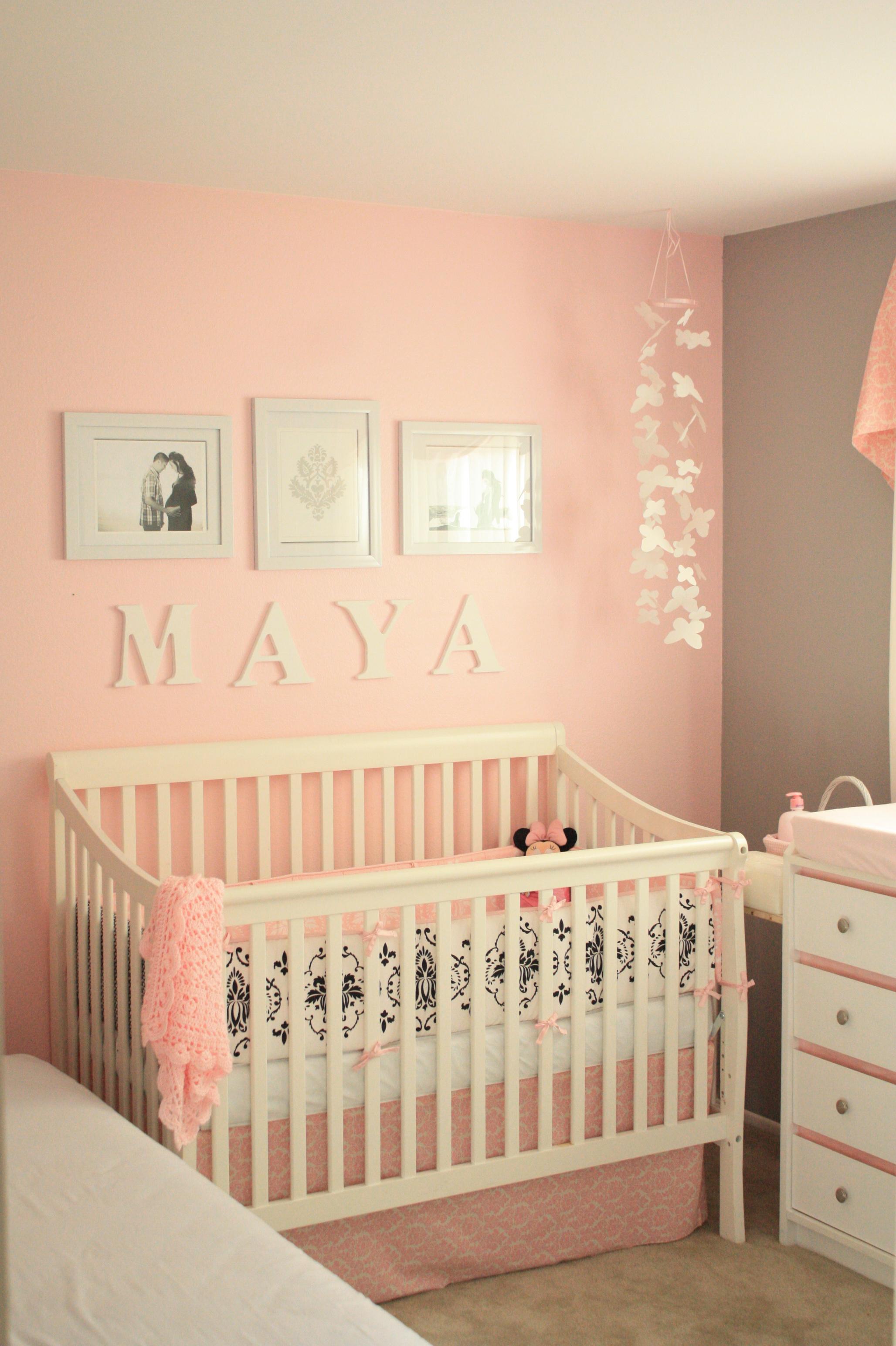 maya 39 s pink and gray nursery project nursery. Black Bedroom Furniture Sets. Home Design Ideas