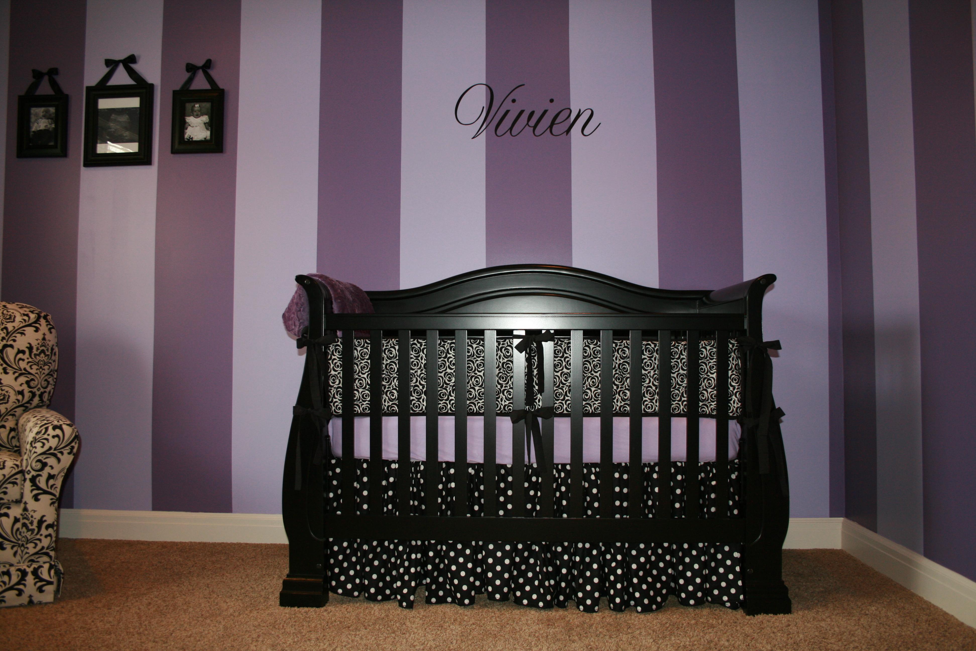 Vivien S Purple Striped Nursery Project Nursery