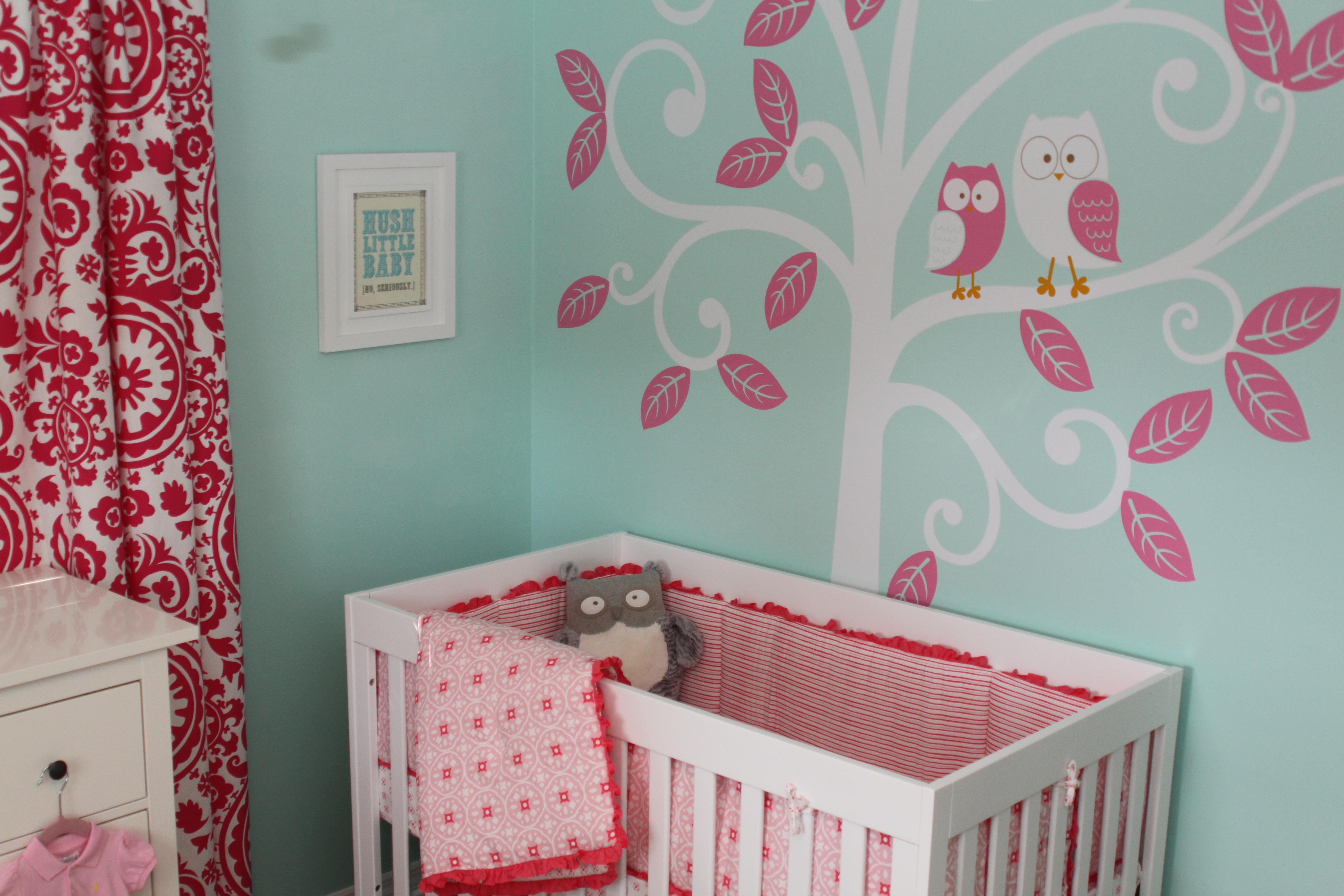 Aqua pink nursery project nursery for Nursery project ideas