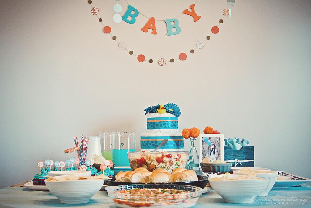 Aqua Orange Baby Sprinkle Project Nursery