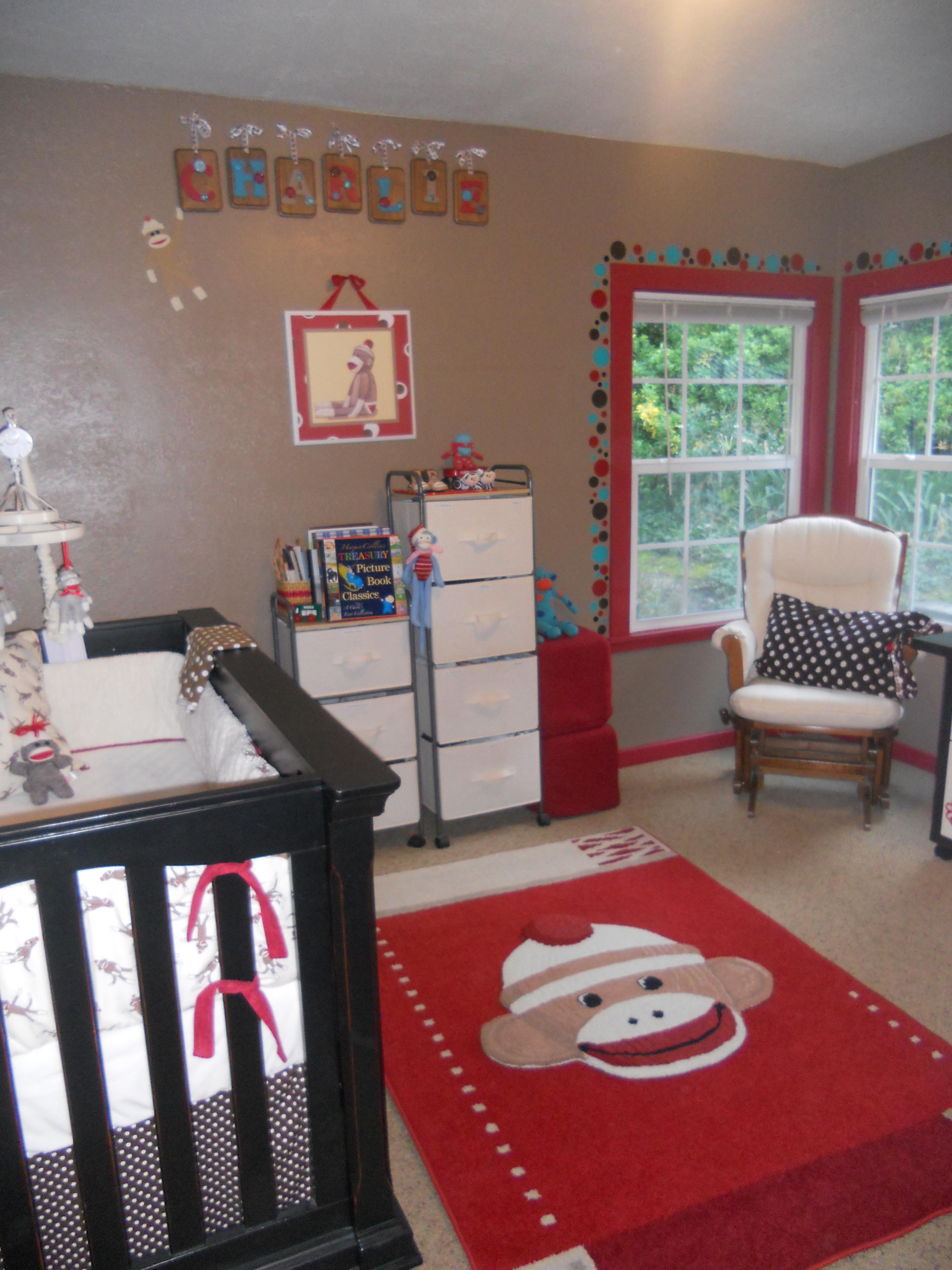 Kids Line Mod Pod Pop Monkey Rug Duck Egg Incubator Sock Nursery For Charlie Project