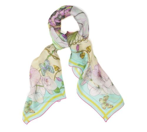 watercolor print scarf