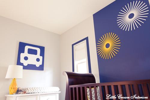 modern boys designer nursery