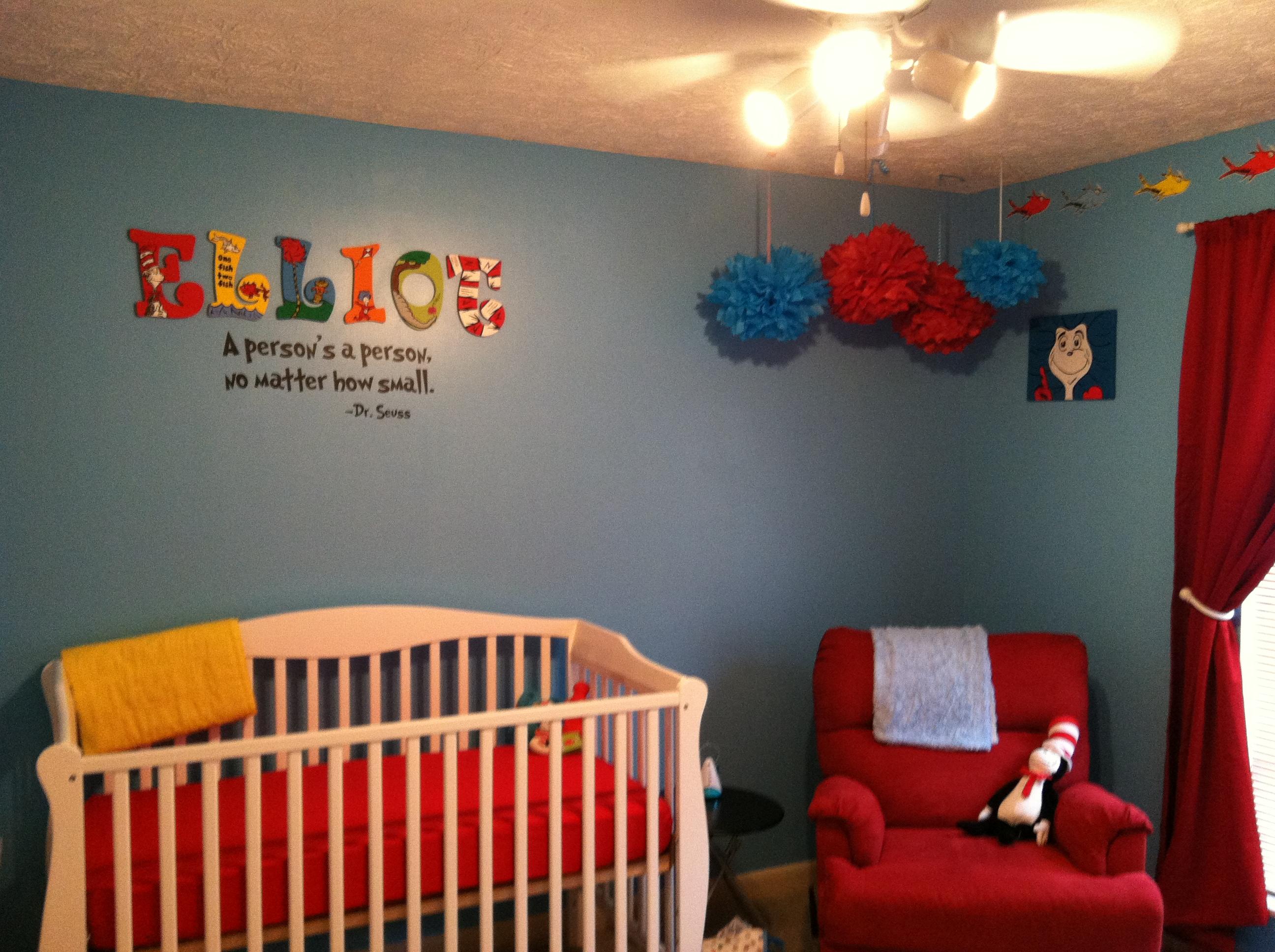 Elliot S Diy Dr Seuss Nursery Project Nursery