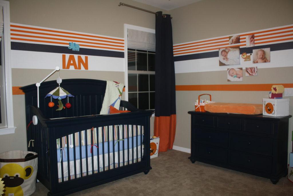 Circus nursery project nursery for Denver broncos bedroom ideas
