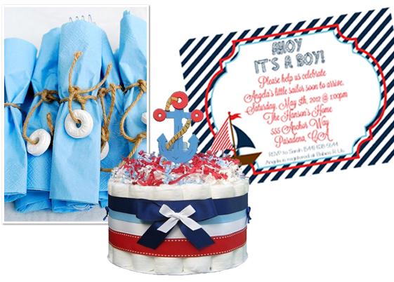 Preppy Nautical Baby Shower Inspiration Board