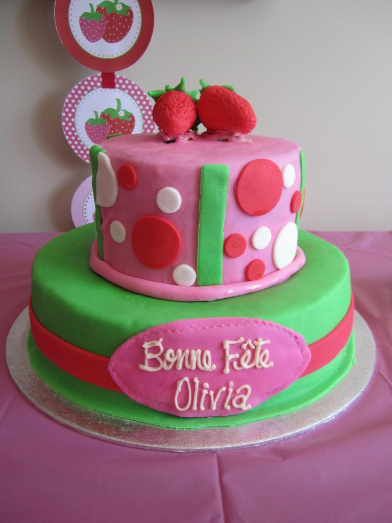 Strange Olivias Strawberry Shortcake Themed 1St Birthday Project Nursery Personalised Birthday Cards Beptaeletsinfo