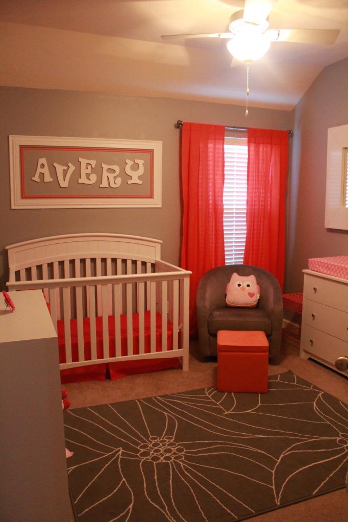 Avery S Orange Amp Pink Nursery Project Nursery