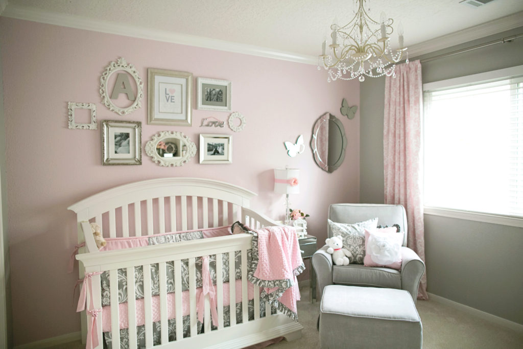 Peachy Soft And Elegant Gray And Pink Nursery Project Nursery Home Interior And Landscaping Mentranervesignezvosmurscom