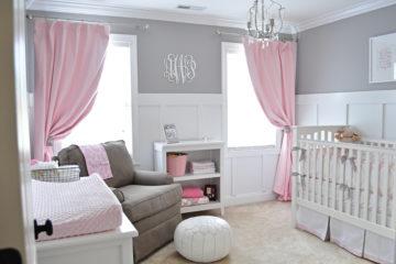 Gray and Pink Nursery