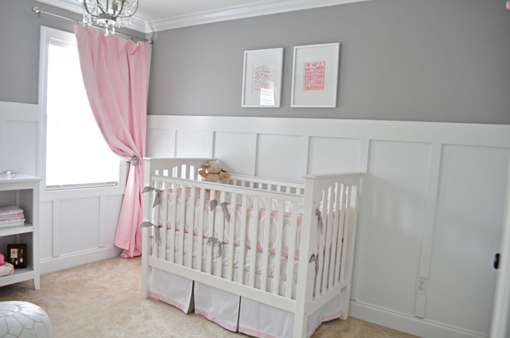 Ava S Sweet Gray And Pink Nursery Project