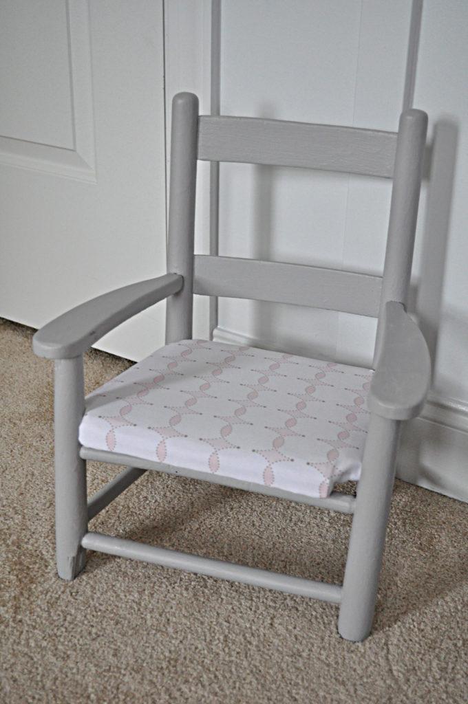 Gray Kids Wooden Chair