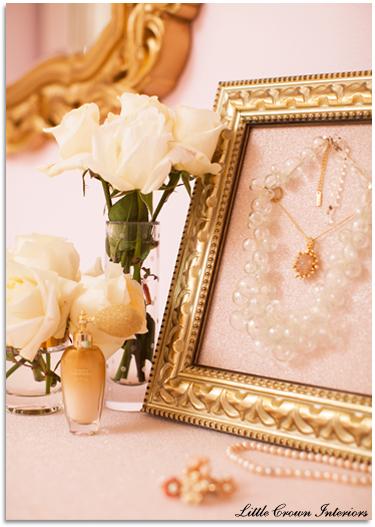 pink and gold feminine nursery