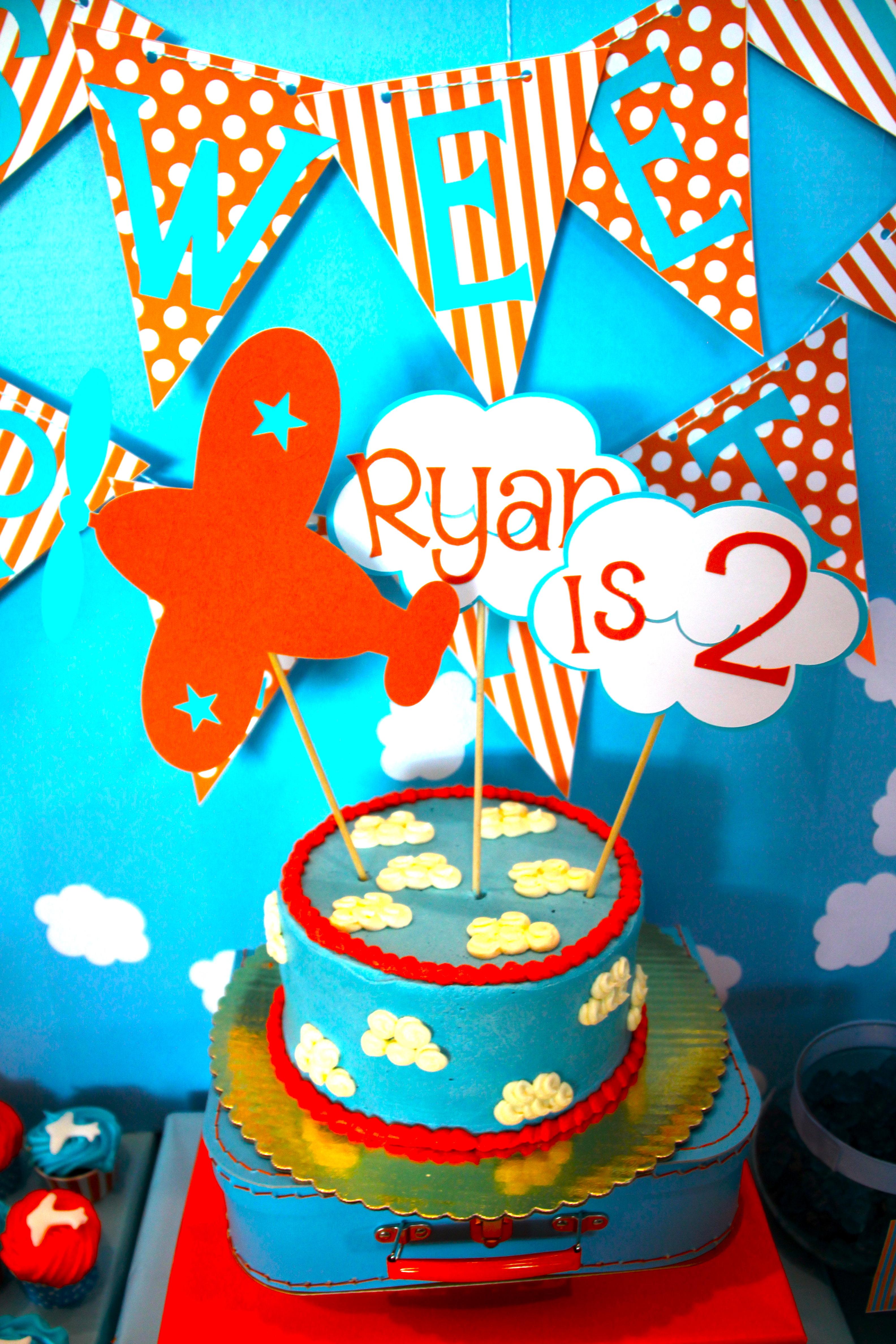 Airplane Birthday Party Project Nursery